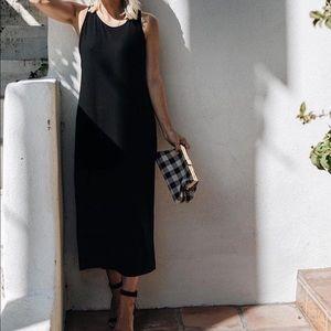 Eileen Fisher Black Midi Tank Dress XS